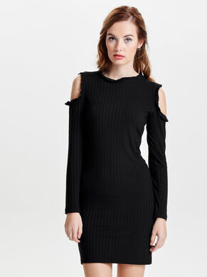COLD-SHOULDER LANGERMET KJOLE
