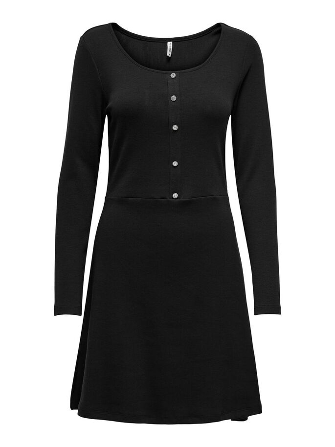FINITIONS ROBE EN MAILLE, Black, large