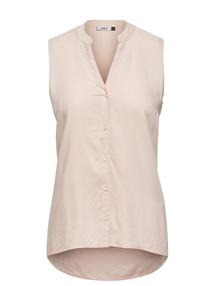 AMPLE CHEMISE SANS MANCHES, Peach Whip, large