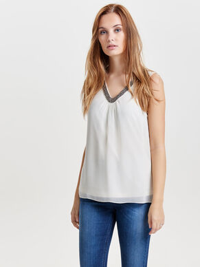 DETALJERET SLEEVELESS TOP