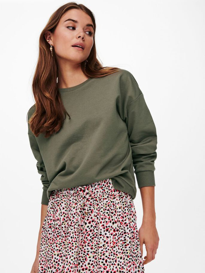 SOLID COLORED SWEATSHIRT, Bungee Cord, large