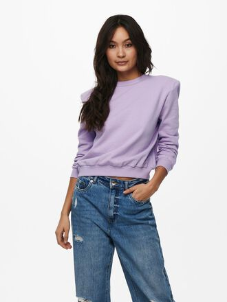 SHOULDER PAD DETAIL SWEATSHIRT