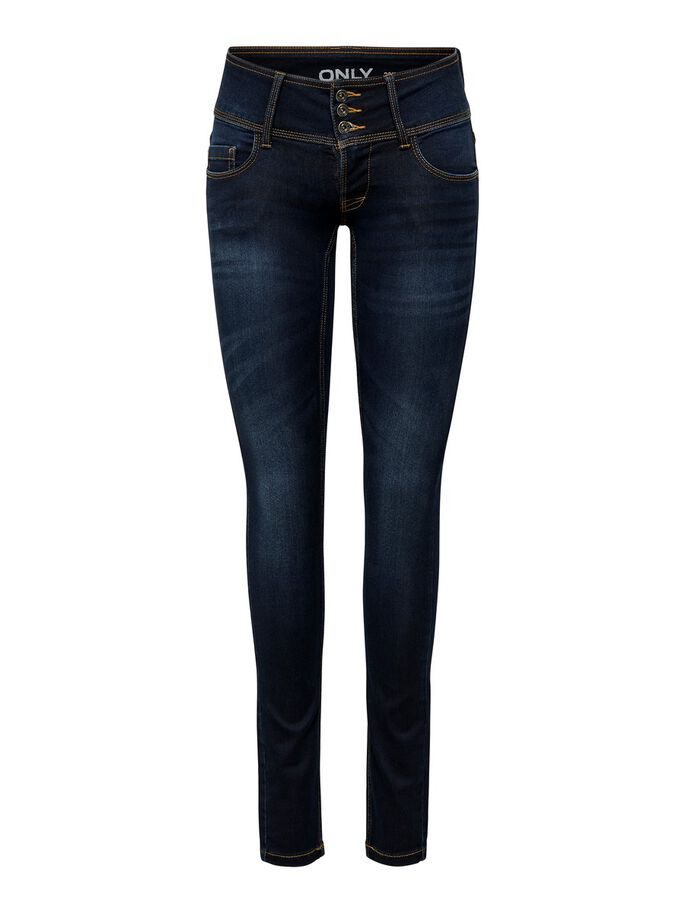 ANEMONE SOFT SKINNY FIT JEANS, Dark Blue Denim, large