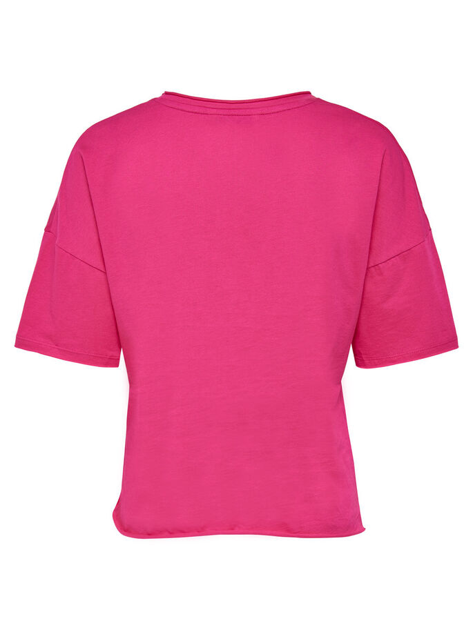 IMPRIMÉ TOP À MANCHES COURTES, Fuchsia Purple, large