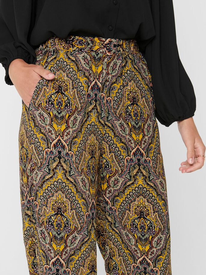 WIDE LEGS TROUSERS, Golden Spice, large