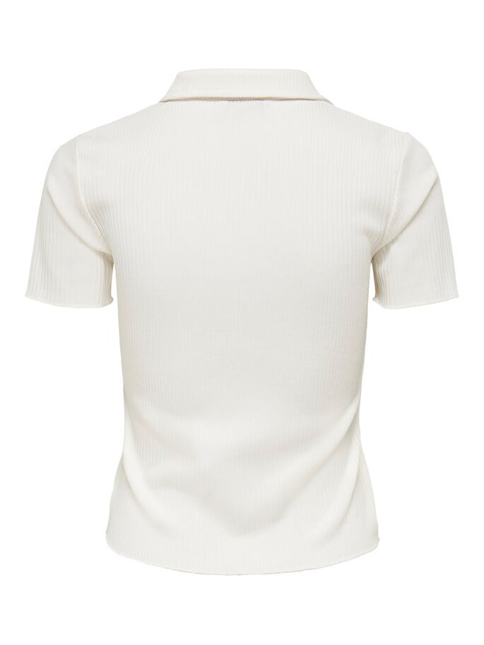 SOLID COLORED POLO SHIRT, Cloud Dancer, large