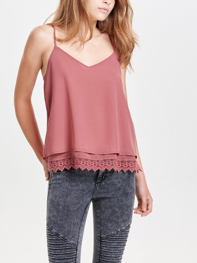 DETAILED SLEEVELESS TOP, Withered Rose, large