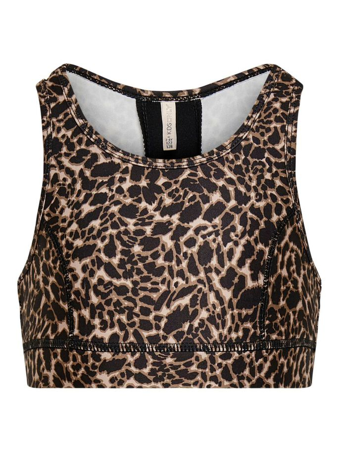PRINTED SPORTS TOP, Ginger Root, large