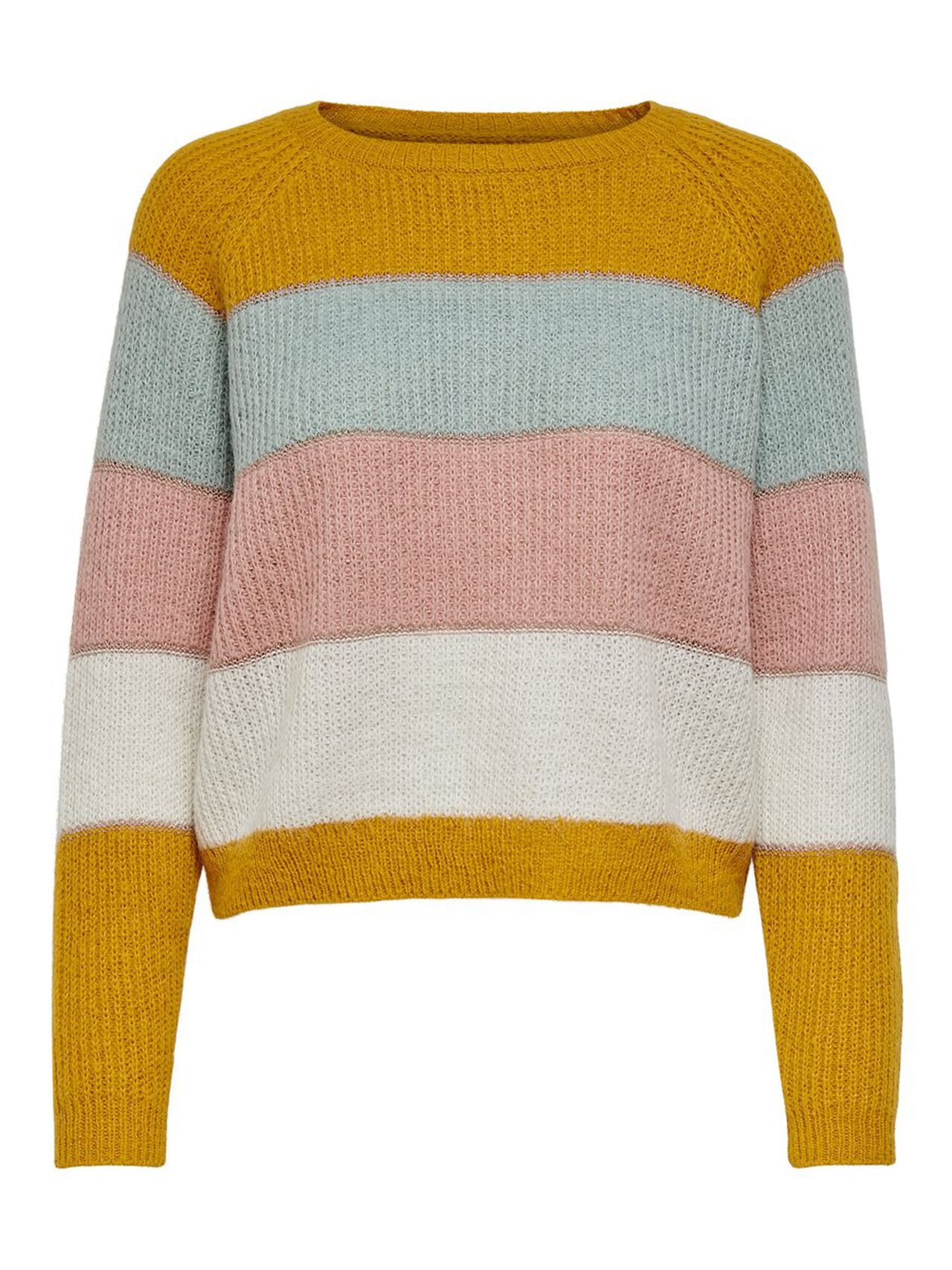 ONLY Contrast Colored Knitted Pullover Women Yellow