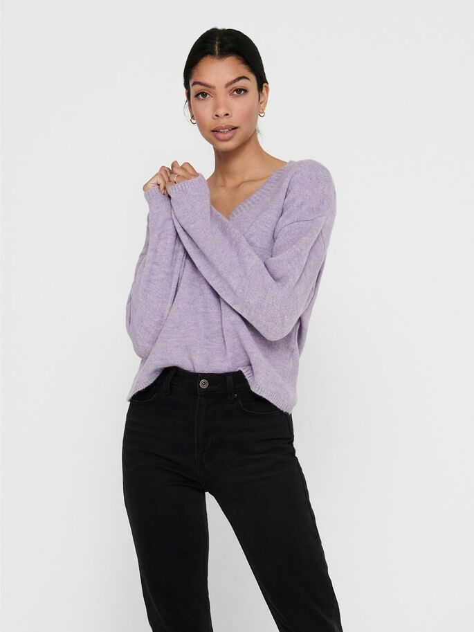 COUPE AMPLE PULL EN MAILLE, Viola, large