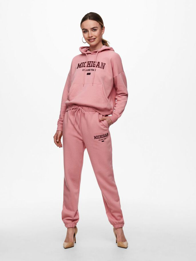 SOLID COLORED SWEATPANTS, Blush, large