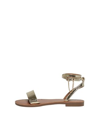 LEATHER LOOK SANDALS