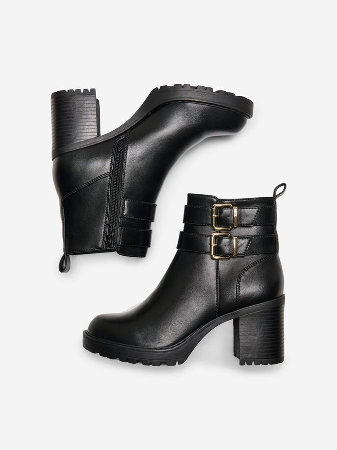 HIGH HEELED BOOTS, Black, large