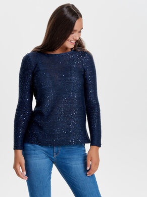 SEQUINS KNITTED PULLOVER