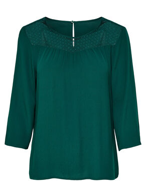MESH 3/4 SLEEVED TOP