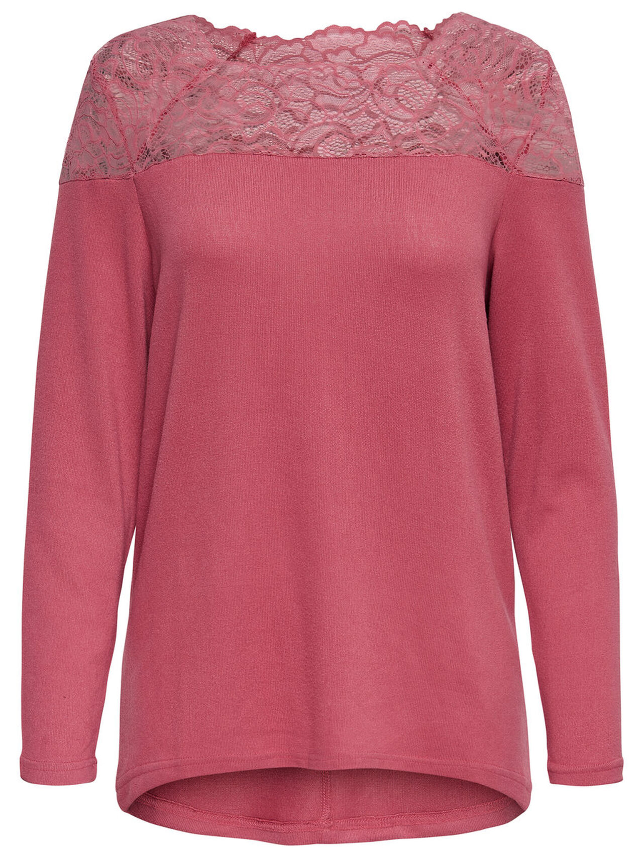 ONLY Lace Long Sleeved Top Women Red