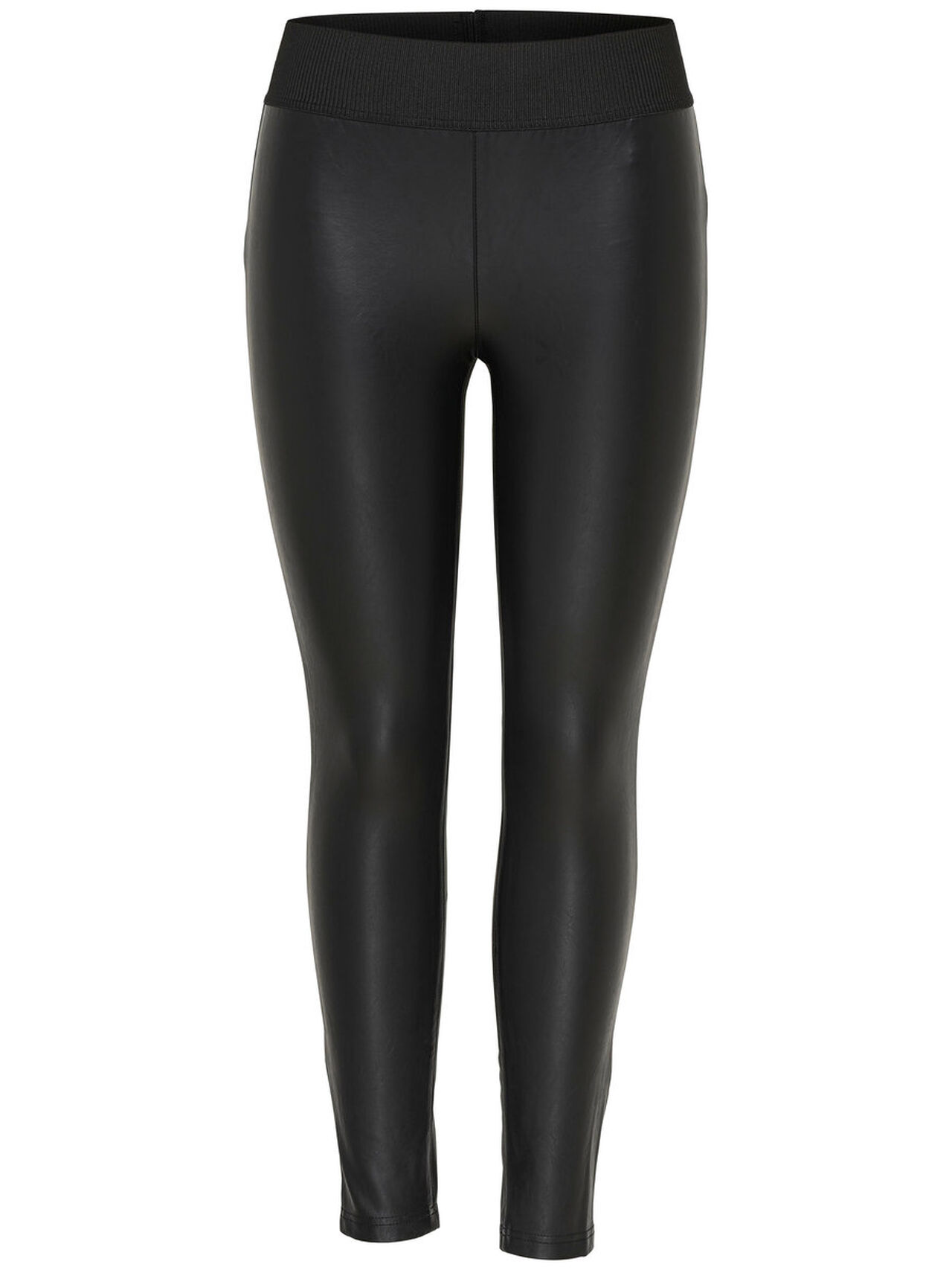ONLY Faux Leather Ankle Leggings Women Black