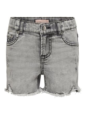 KONKIDS HW GREY DENIM SHORTS