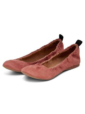 SUEDE LOOK BALLERINAS
