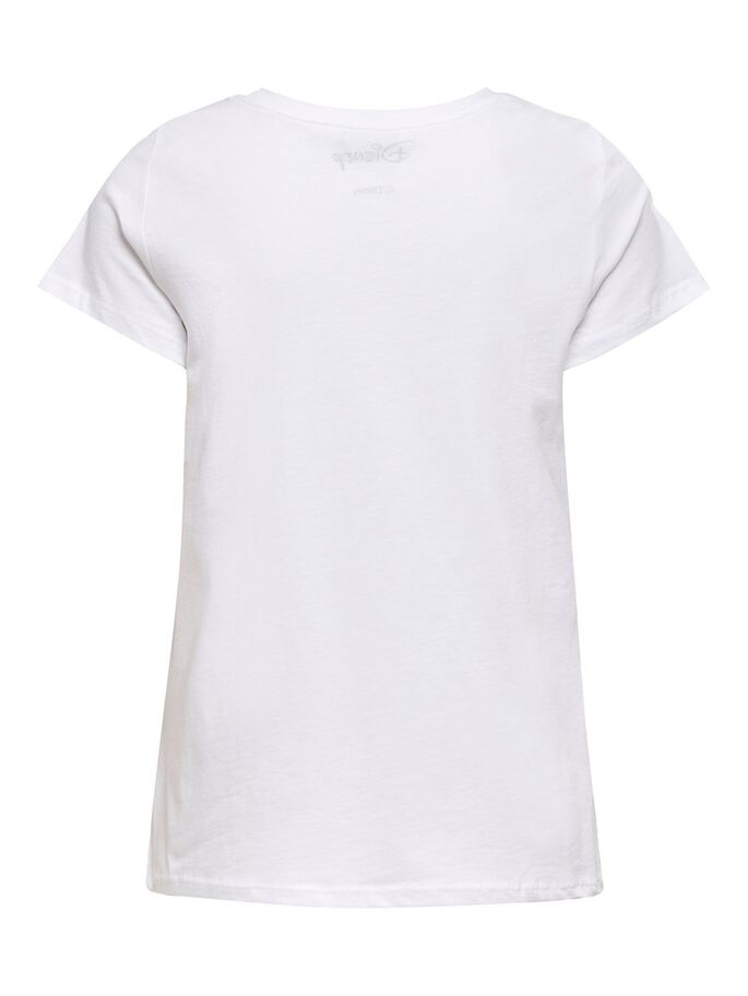 MINNIE PRINTED T-SHIRT, White, large