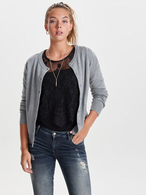 BASIC- STRICK-CARDIGAN