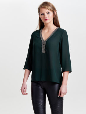 DETAILED 3/4 SLEEVED BLOUSE
