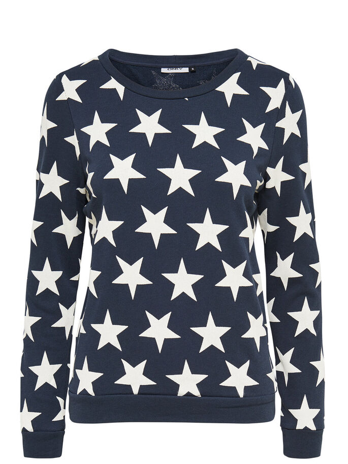 PRINTED SWEATSHIRT, Blue Nights, large