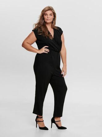CURVY SOLID COLORED JUMPSUIT