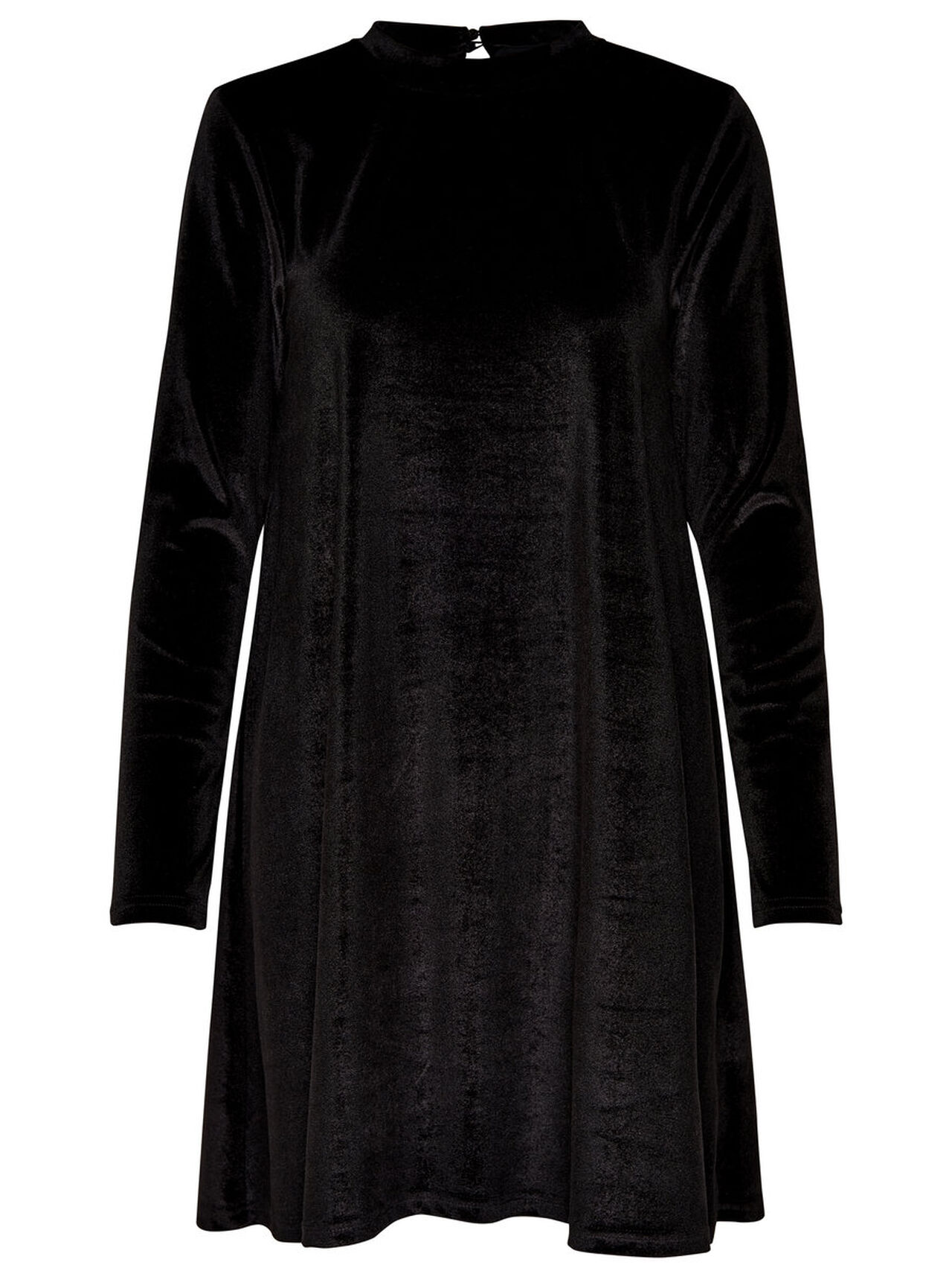 ONLY Velvet Long Sleeved Dress Women Black