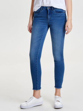 ROYAL REG ANKLE RAW SKINNY JEANS