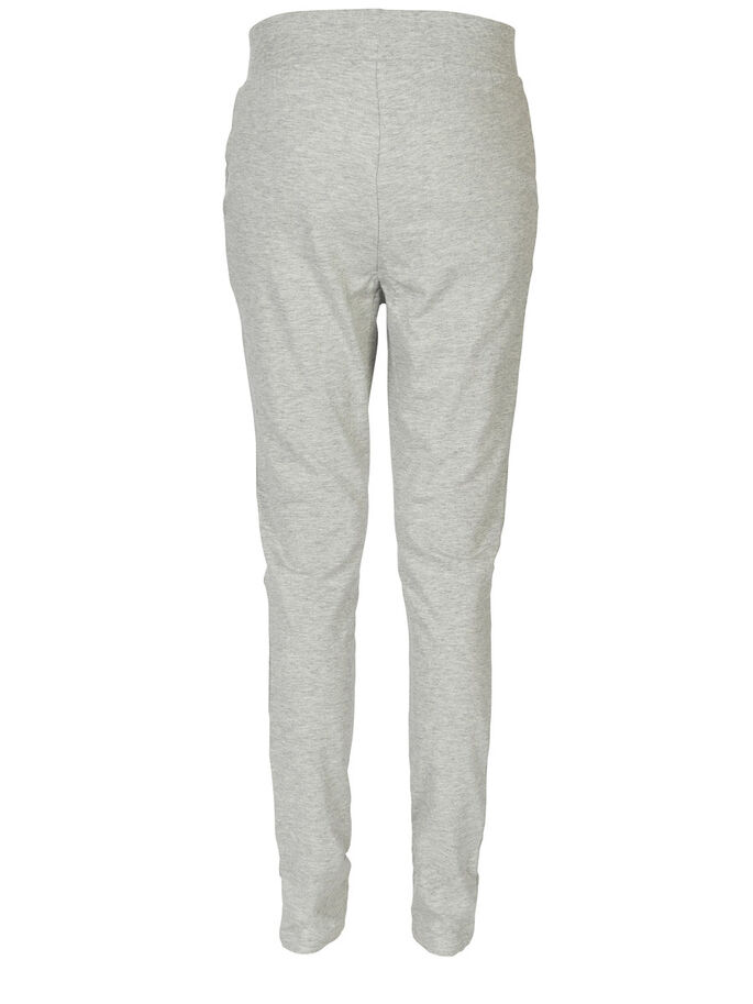 TIE SWEAT PANTS, Light Grey Melange, large