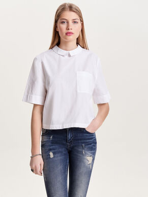 CROPPED SHORT SLEEVED SHIRT