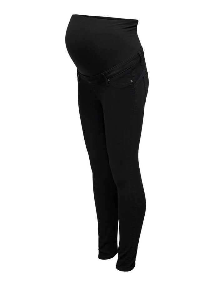 MAMA OLMIRIS MID ANKLE PUSH UP SKINNY FIT JEANS, Black, large