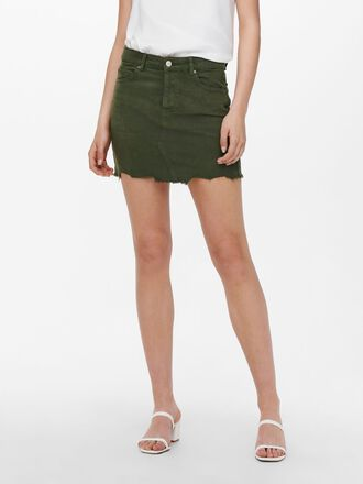 REGULAR FITTED DENIM SKIRT