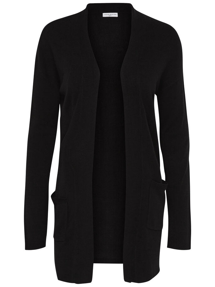 LÄSSIGER STRICK-CARDIGAN, Black, large