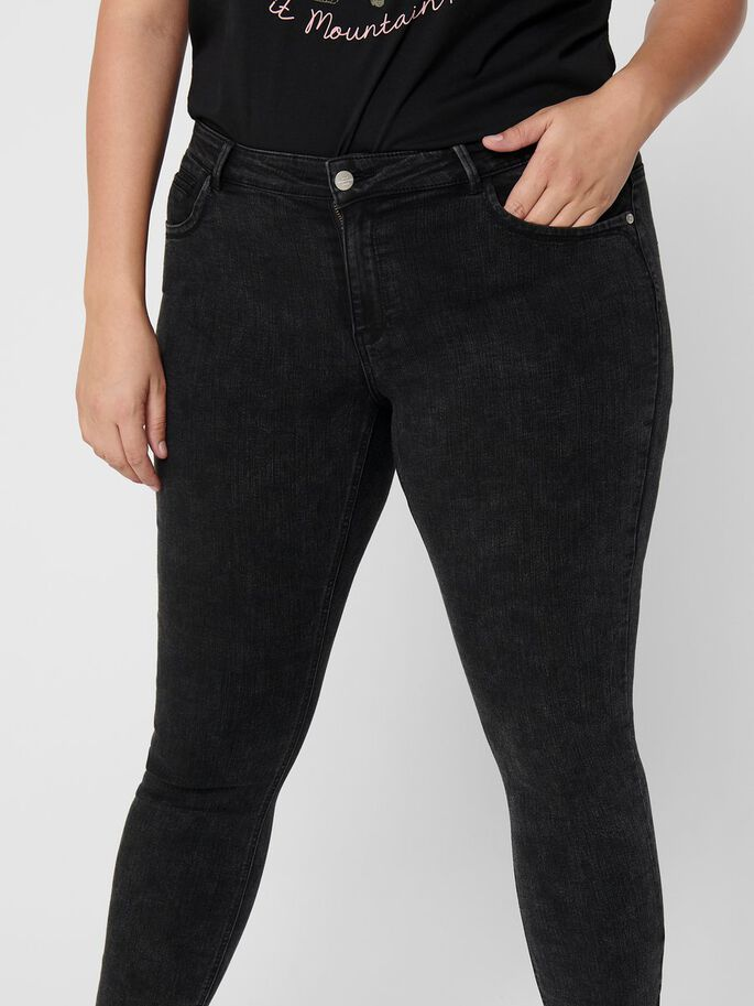 CARKARLA REG ANKLE ACID SKINNY FIT JEANS, Black, large