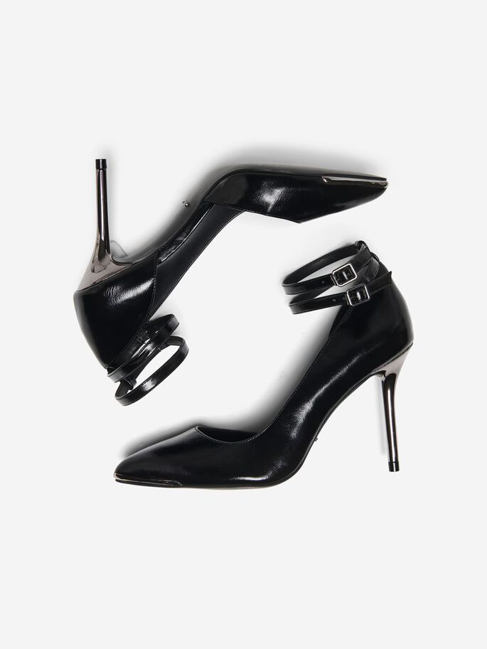 SHINY PUMPS, Black, large