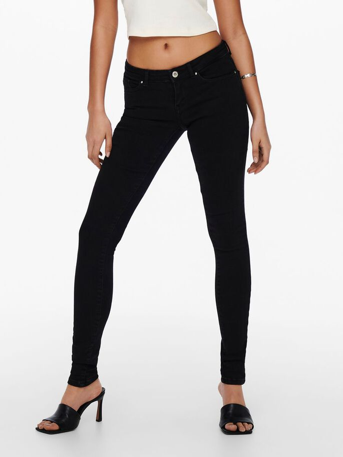 ONLCORAL LIFE SL POWER SKINNY FIT-JEANS, Black, large
