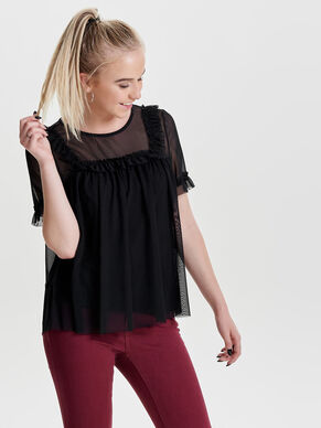 MESH SHORT SLEEVED TOP