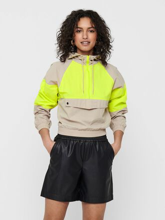 CONTRAST COLORED ANORAK