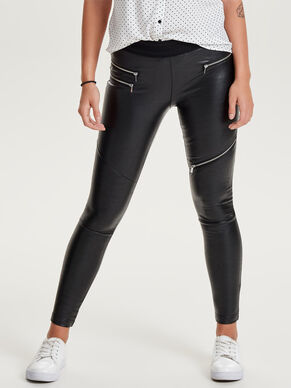 LÄDERLIKNANDE LEGGINGS