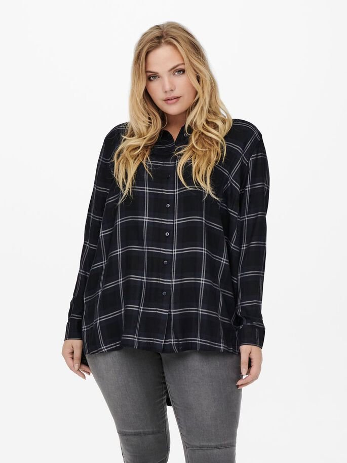 CURVY LOOSE FITTED SHIRT, Sky Captain, large