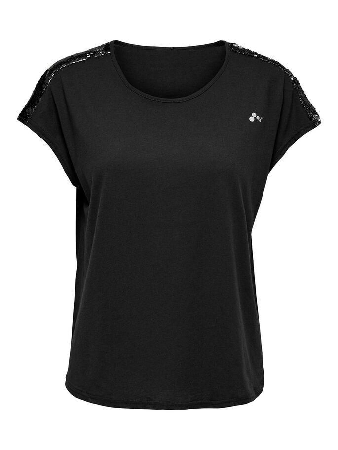 LOOSE FITTED TRAINING TEE, Black, large