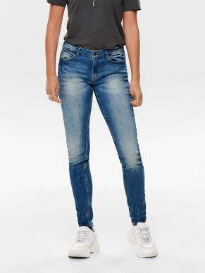 JDY LOW FLORA JEANS SKINNY FIT