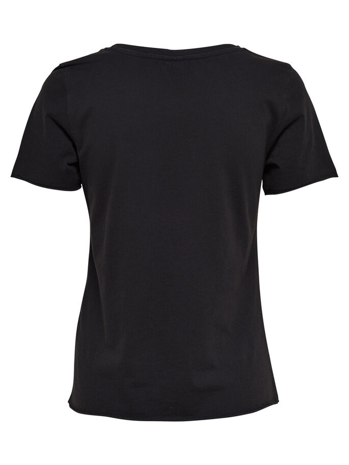 BEDRUCKTES T-SHIRT, Black, large