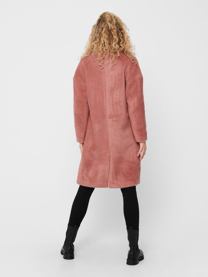 LONG SOLID COLORED COAT, Desert Sand, large