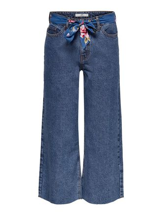 JDYSELMA WIDE ANKLE BELTED STRAIGHT FIT JEANS