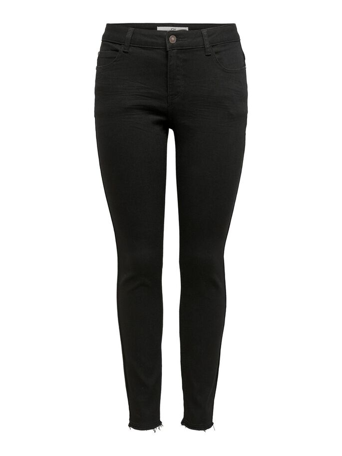 JDYSONJA LIFE REG ANKLE SKINNY FIT JEANS, Black Denim, large