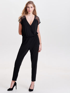 SHORT SLEEVED JUMPSUIT