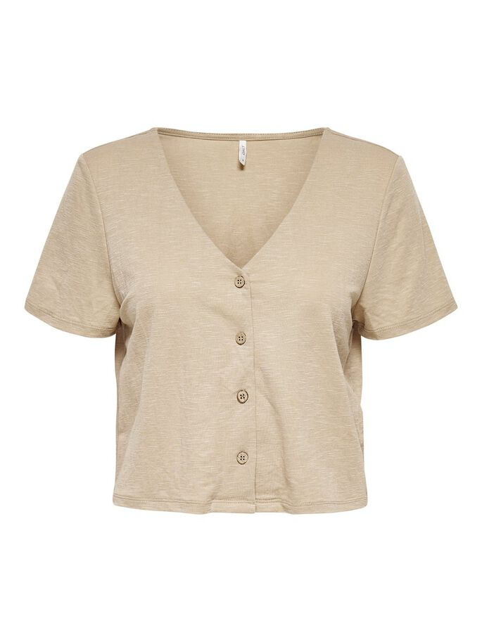 BUTTON TOP, Humus, large